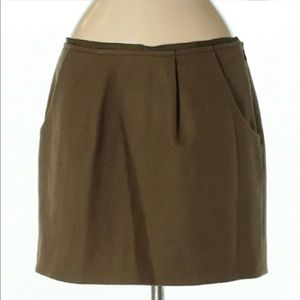 J.CREW FELTED WOOL MINI SKIRT SIZE 00